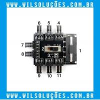 Multi Way Splitter - Hub Ventoinha de Refrigeração - PC IDE/SATA 1 para 10 - 4PIN 12v