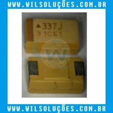 Capacitor D 337 - D337 - 2.5V 330UF - A337J - A 337 J