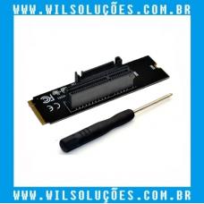 Adaptador M2 para PCI-E com indicador LED SATA RISER de energia