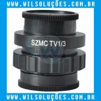 Adaptador de Lente Para Câmera de Microscópio - SZMCTV 1/3