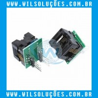 Adaptador socket Para Gravador Bios Eprom Soic8 - Sop8 - Dip8 - 150mil