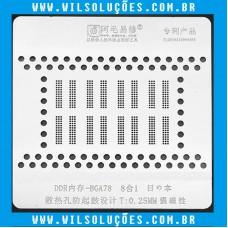 Stencil Amaoe BGA78 para Memórias Macbook - Stencil Memoria DDR BGA78