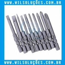 Bits - Chave de Fenda Para Parafusadeira kit com 10 peças