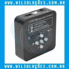 Câmera Microscópio Trinocular Full Hd 1080p 60fps 2k 21mp