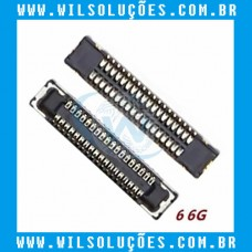 Conector Fpc Lcd - Display do Iphone 6 / 6 Plus / 8 Plus / X