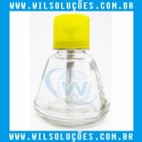DISPENSER DE VIDRO PARA ÁLCOOL COM VÁLVULA - 150ML - DKT-18C