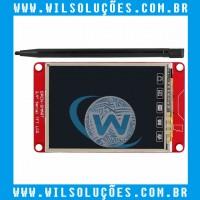 Display com touch e caneta de toque para Arduino Open-smart 2.4 Serial TFT LCD
