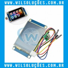 Display e touch para arduino Nextion 2.4 Tft Hmi 320x240 - Nx3224t024