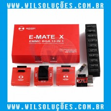 ADAPTADOR E-MATE X - 13 EM 1 -  EMMC MOORC PARA ATF, UFI, RIFF, Z3X PRO EASY, MEDUSA, OCTOPLUS PRO