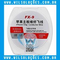 FIO DE COBRE FX-9 KAISI ESMALTADO SUPER FINO 0.02MM PARA RECUPERAR TRILHAS E PADS