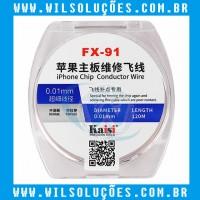 FIO DE COBRE FX-91 KAISI ESMALTADO SUPER FINO 0.01MM