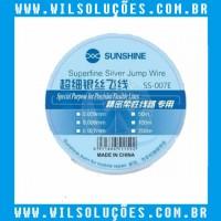 Fio Para Jump Ultra Fino De Prata SS- 007E - 0.007mm x 200m