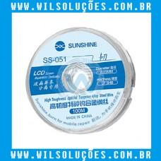 Fio de Aço SUNSHINE  SS-051 - Separação do painel LCD 0.03MM x 100m