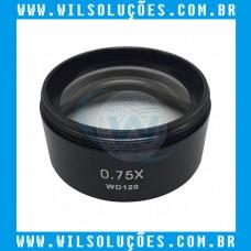 Lente Para Microscópio Trinocular 0.75X