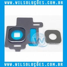 Lente e Moldura Câmera Traseira Galaxy S8 G950 Preto