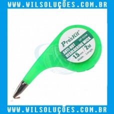 Pro'sKit Anti-Hot - Malha Dessoldadora Wick BGA - Trança de Cobre Fio de Solda 1,5 mm x 2 Metros