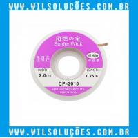Malha Dessoldadora SOLDER  WICK- CP-2015  - 2.0mm x 0.75m