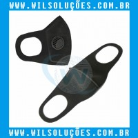 Máscara com Válvula Filtro 3D -  PM2.5 Preta