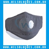 Máscara Válvula de Respiração com Filtro PM2.5 - Preta