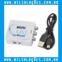 Mini Adaptador Conversos Hdmi/2av