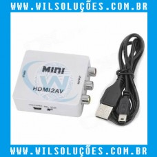 Mini Adaptador Conversos Hdmi/2av