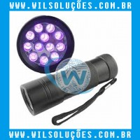 Mini Lanterna UV LED Aluminum AAA