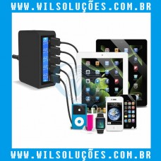 Carregador Múltiplo USB 5 Portas - Qualcomm