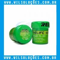 Pasta de Solda - RELIFE  RL-402 - Sn63/Pb37  183ºc -  40g
