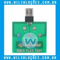 Placa De Teste Micro Usb Dock Flex Teste De Bateria Android