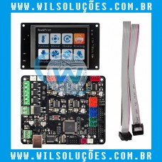 Placa de Controle Da Impressora 3D MKS Base V1.5 + Display com touch MKS TFT32 V2.0