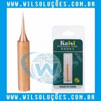 Ponta de Ferro de Solda Reta 900M/ 936 Cobre Kaisi ideal para Micro solda BGA 900M-T-IS Gold