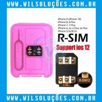 R-sim 12 -  R-Sim - Nano Cartão De Desbloqueio Para Iphone 5/5s/5c/ 6/6s /6 P/6s P/7/7 P/8/8 P/X