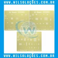 STENCIL QIANLI  3D GOLD COMPATÍVEL IPHONE 6/6P/7/7P/8/8P
