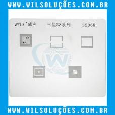Stencil - S5068 Para Reballing E Bga Samsung S8
