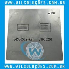 Stencil A808 Para Reeballing e Bga - 343s0542-a2 - 339s0251