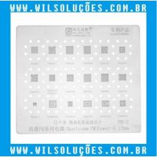 Stencil Amaoe Qualcomm PM Power-0. 12mm - PM: 2 - PM660 - PM8937 - PM8952 - PMI8952 - PM8940 - PM8028 - PM820EAD