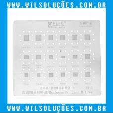 Stencil Amaoe Qualcomm PM Power-0. 12mm - PM: 3 - PM715 A - PM439 - PM845 / 562 - PM660A/L - PMI632 - PM640 - PM6150 - PM8150 - PM6125 - PM660D