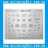 Stencil Relife RL-044  Para Iphone 8 / 8P / X - Precisão Bga