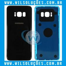 Tampa Traseira De Vidro Original Samsung Galaxy S8 Sm-g950 Preto