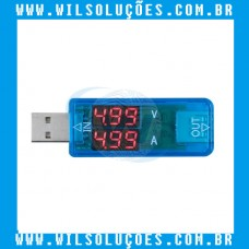 USB Detector de Tensão Amperímetro DC3.2-10V 0-3A