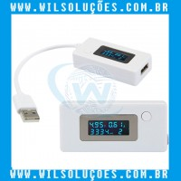 Medidor De Tensão e Corrente - Usb Charger - Kcx-017 - Amperimetro