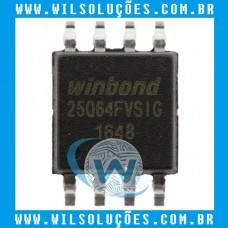 Winbond W25q64fvsig - 25q64fvsig - 25q64fv - 25q64 - 64M-BIT