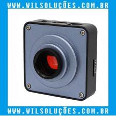 Câmera Microscópio Trinocular Full Hd 1080p 60fps 2k 38mp
