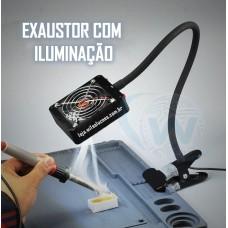 Exaustor para bancada com iluminação - Exaustor com Iluminação