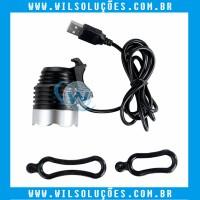 Lampada UV USB - Portatil Luz Uv - Cabo 2.5m - Preta