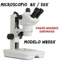 Microscopio Trinocular W850X - 8x / 50x